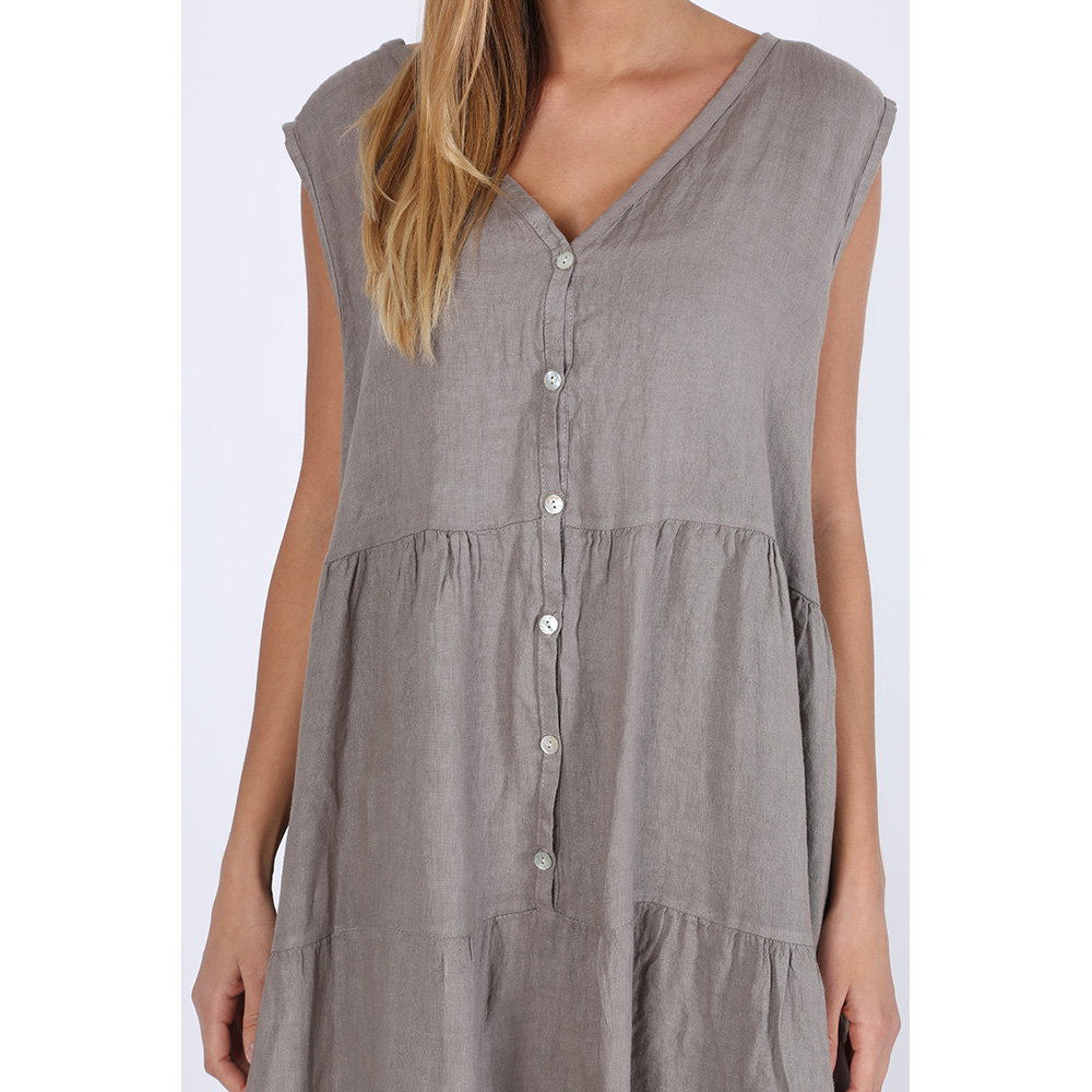 Vestido de lino - taupe