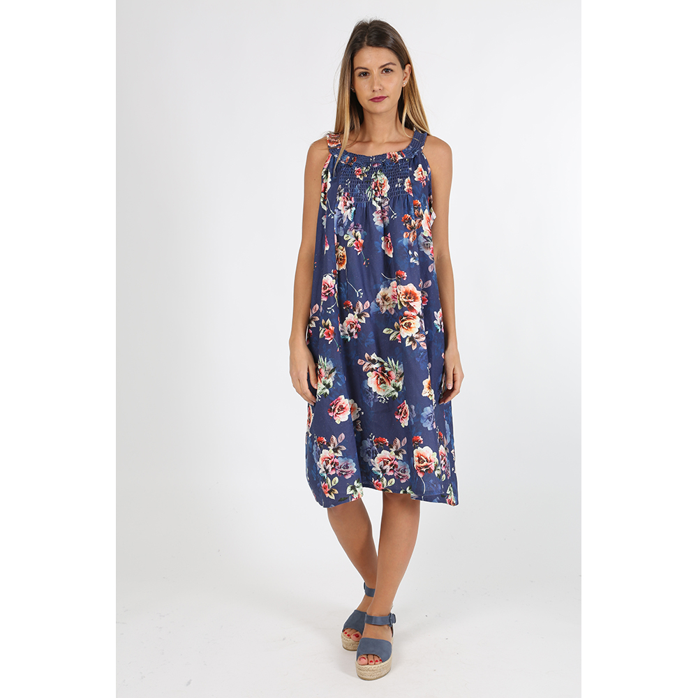 Vestido de lino - marino