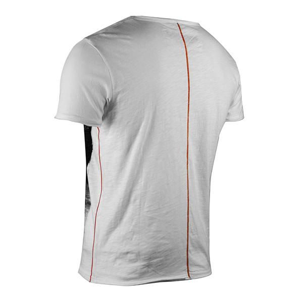 Camiseta m/corta estampada hombre - blanco roto