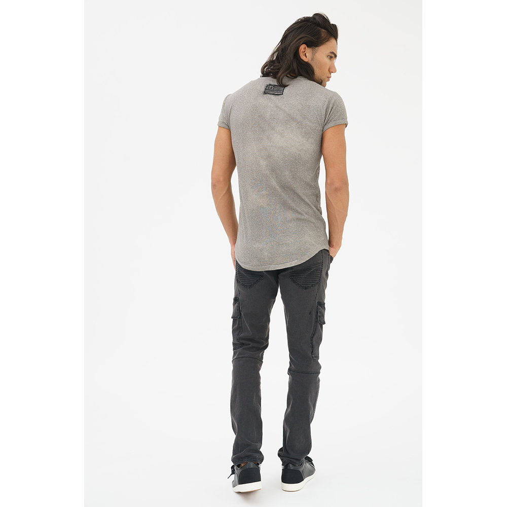 Camiseta m/corta hombre - gris oscuro