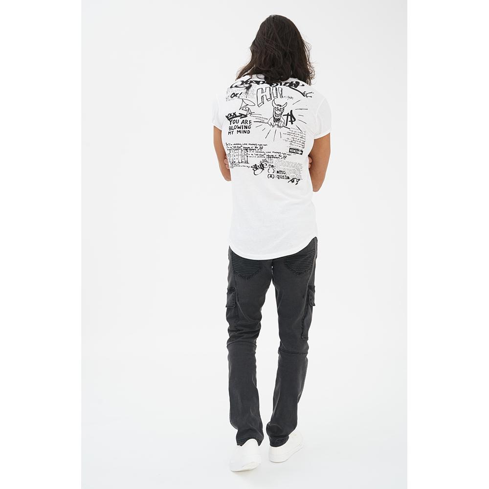 Camiseta m/corta hombre - blanco