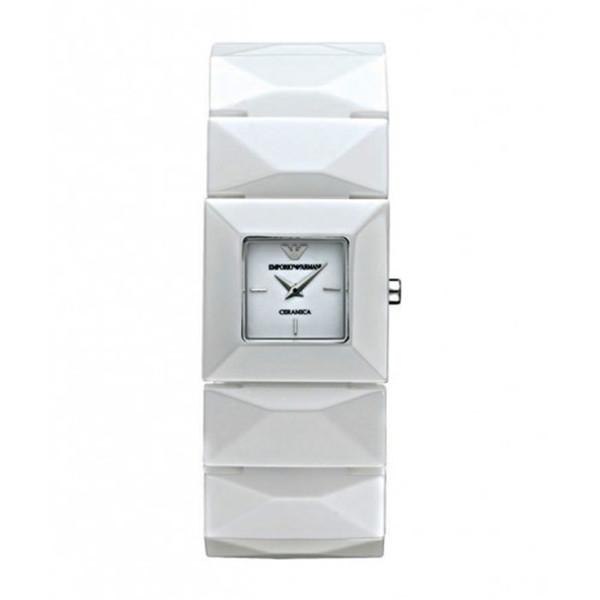 Reloj analógico cerámica mujer - blanco