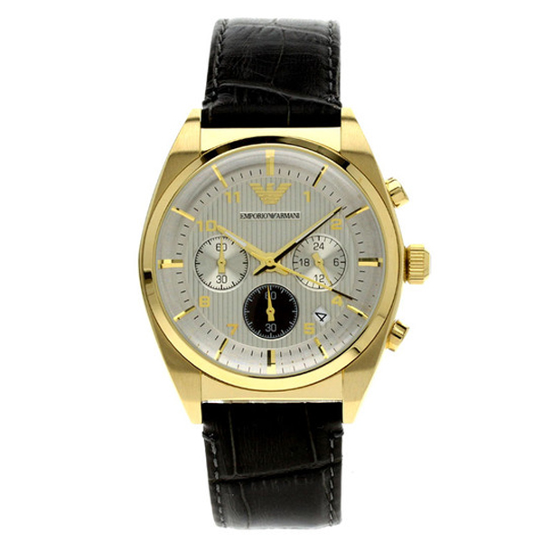 Reloj cronógrafo piel hombre - negro