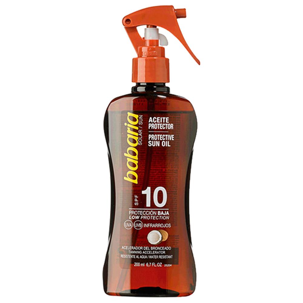 Protector solar corporal en spray aceite de coco SPF10