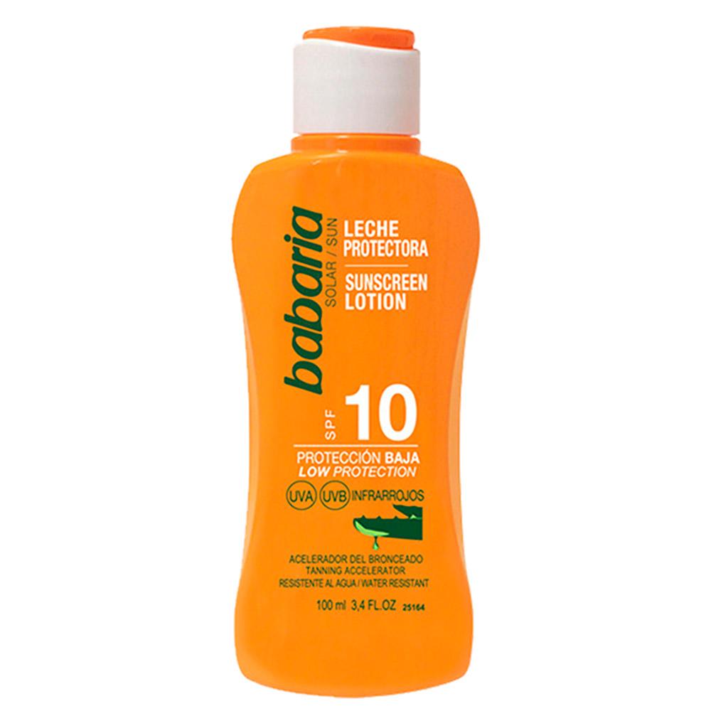 Protector solar leche aloe spf10