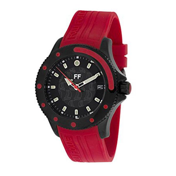 Reloj analógico caucho hombre - rojo/negro