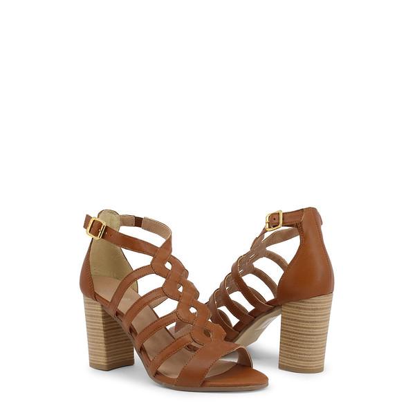 8cm Sandalia piel tacón mujer - piel