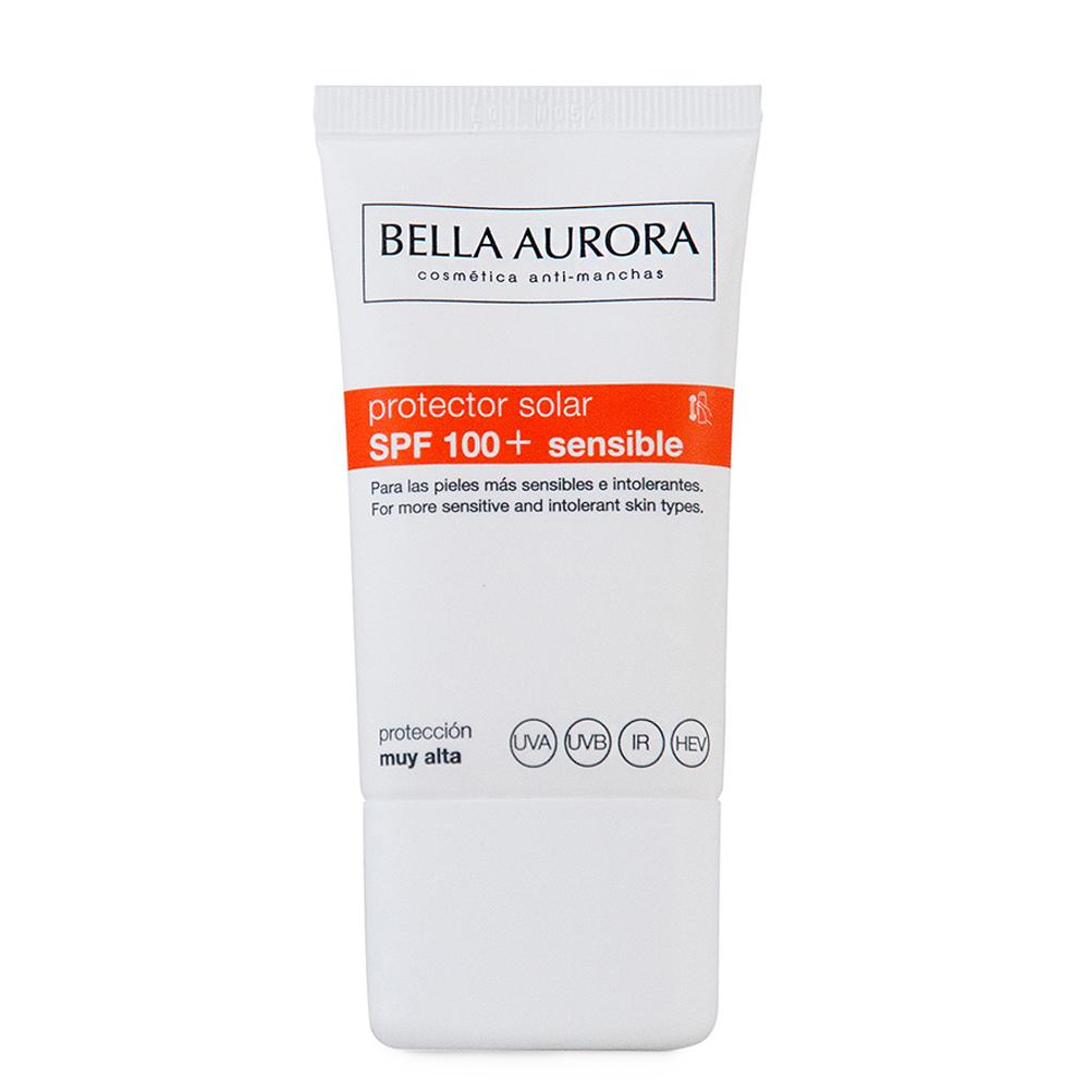 Protector solar facial piel sensible SPF100+