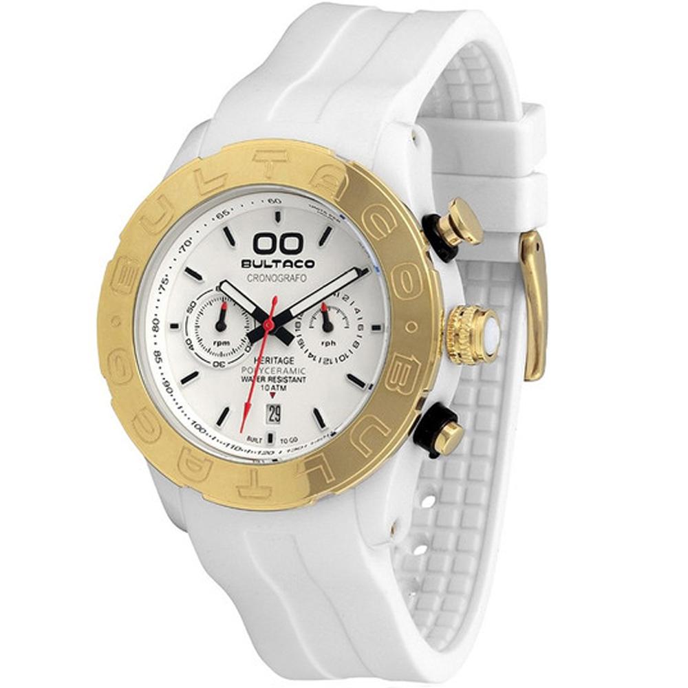 Reloj cronógrafo caucho unisex - blanco