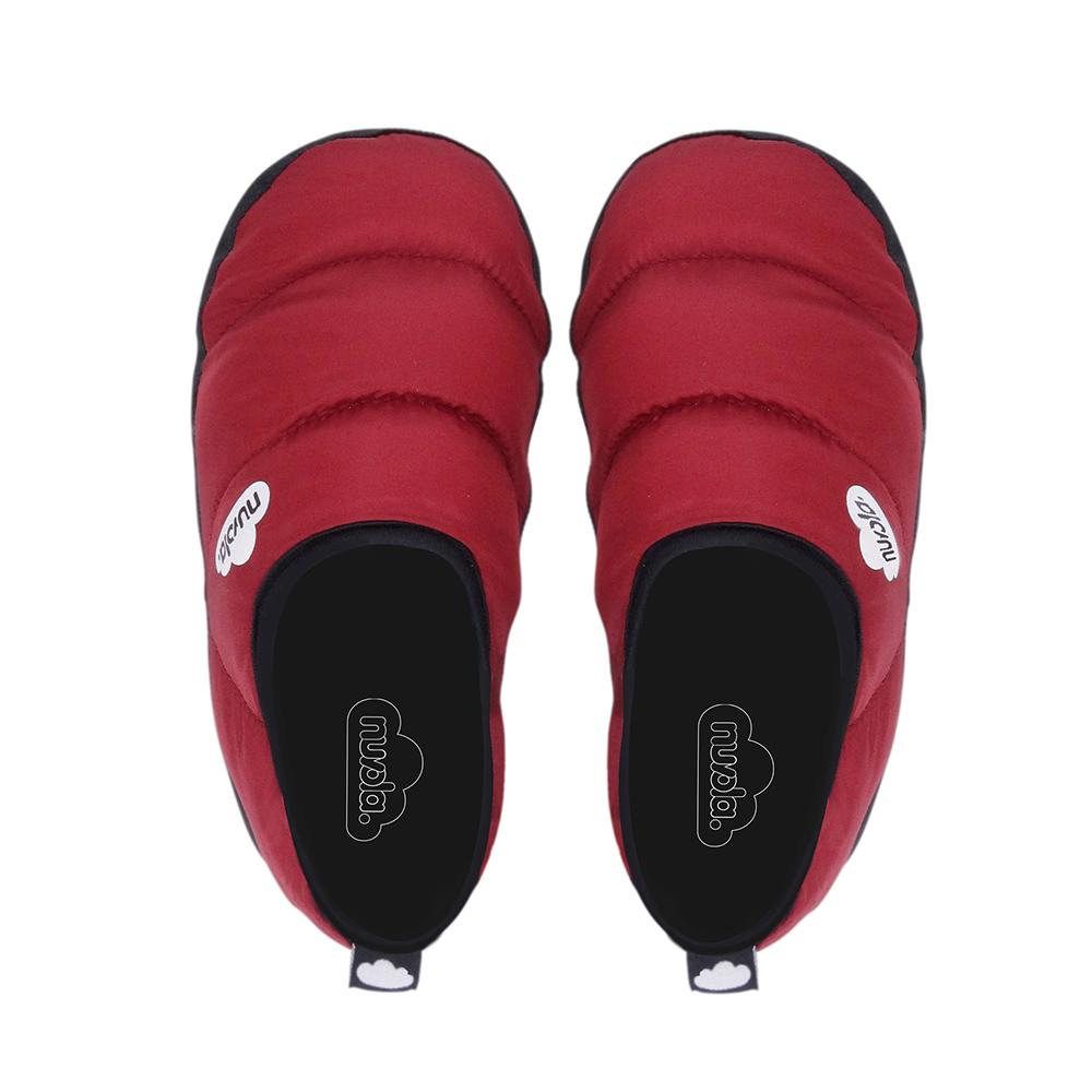 Zapatilla suela de goma - rojo