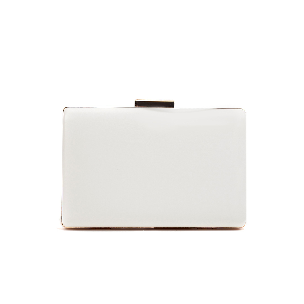 11.5x17x4.5 cm Bolso Clutch - blanco