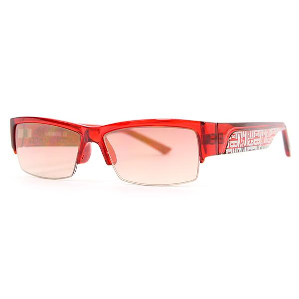 Gafas de sol unisex calibre 53 inyectado - rojo