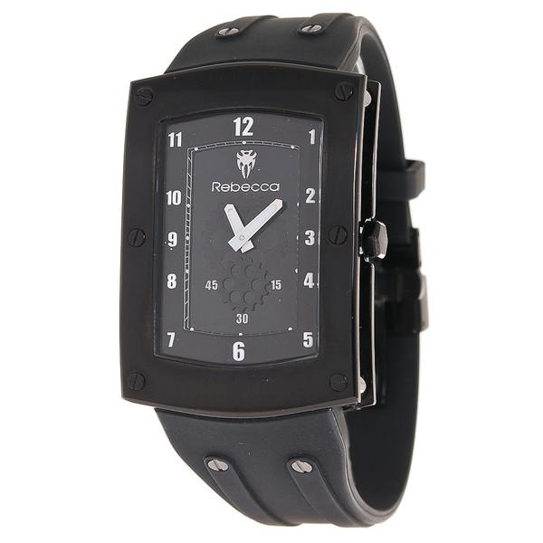 Reloj hombre analógico caucho/acero - negro