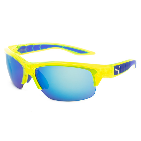 Gafas de sol unisex + segundo juego de lentes - amarillo/azul