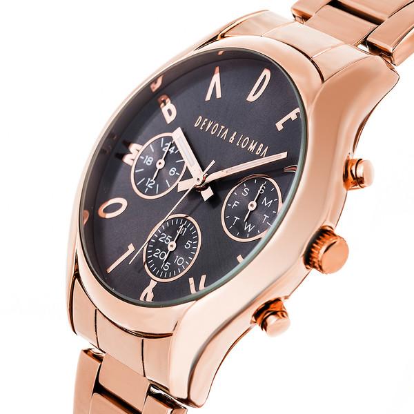 Reloj hombre analógico acero - rosado