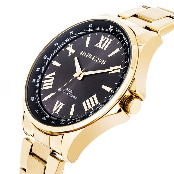 Reloj hombre analógico acero - dorado