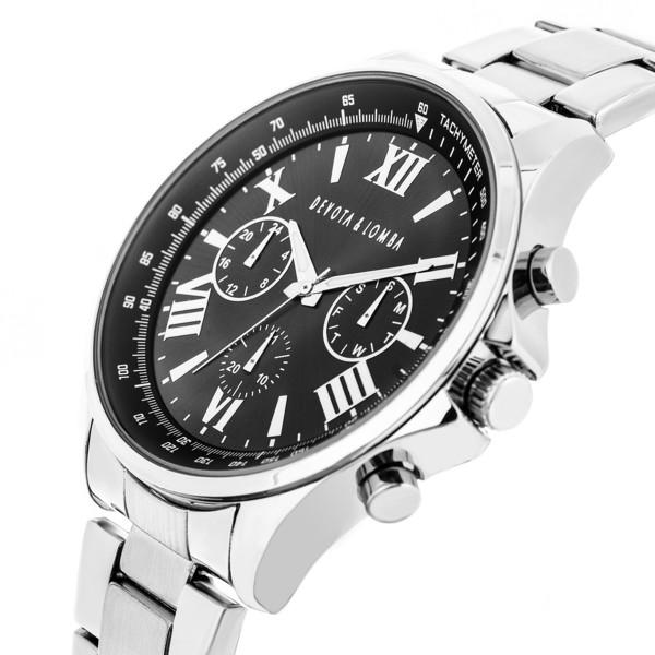 Reloj hombre analógico acero - plateado