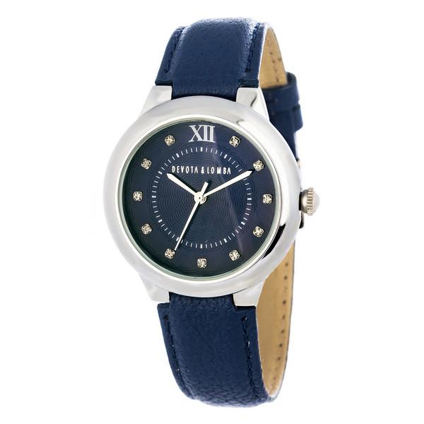 Reloj analógico mujer piel - azul