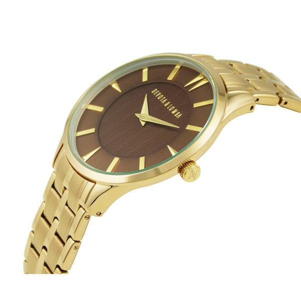 Reloj analógico hombre acero - dorado