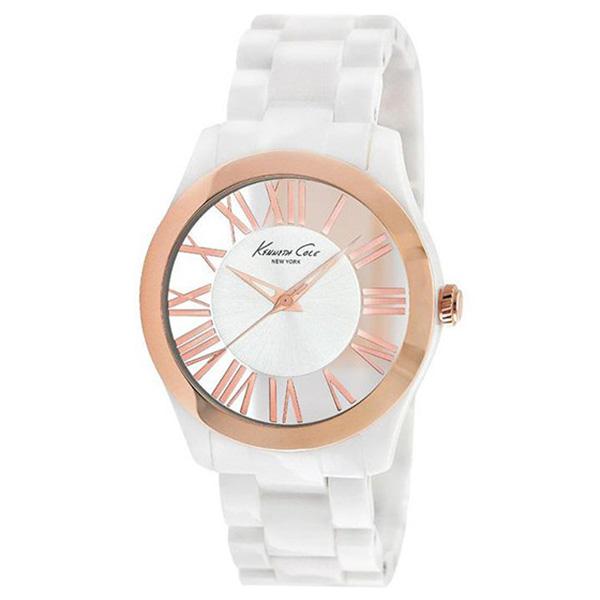 Reloj analógico policarbonato mujer - blanco