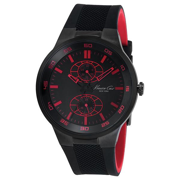 Reloj analógico cuero hombre - negro