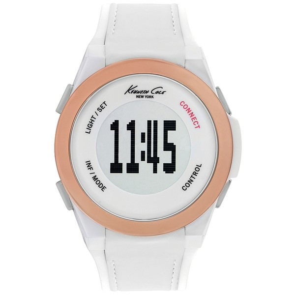 Reloj digital silicona hombre - blanco