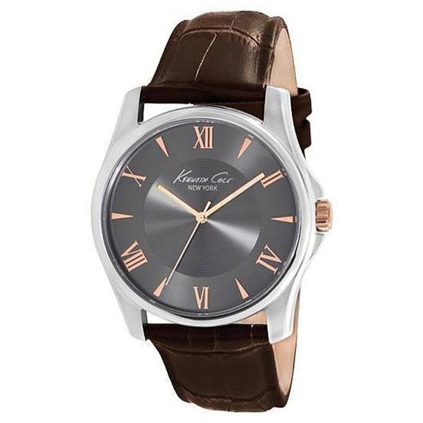 Reloj analogico piel hombre - marrón