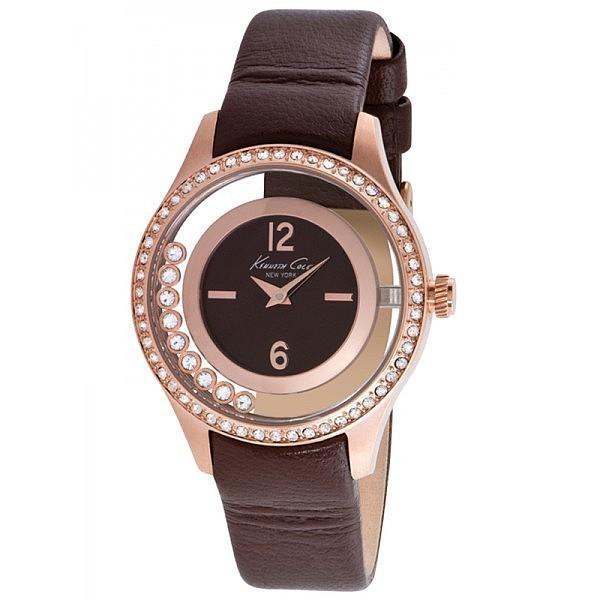 Reloj analógico mujer - marrón