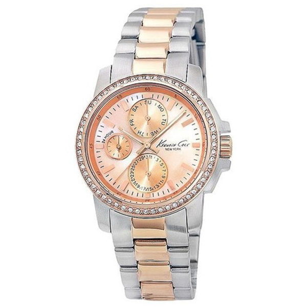 Reloj mujer analógico - plateado/rosado
