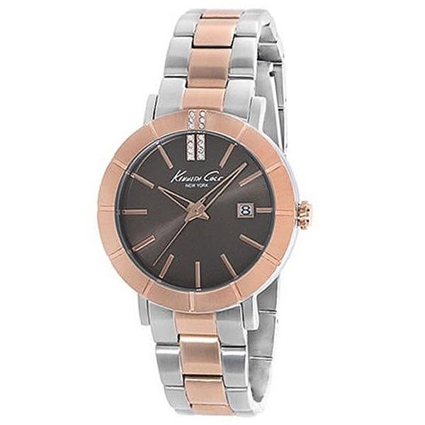 Reloj analógico mujer - plateado/rosado