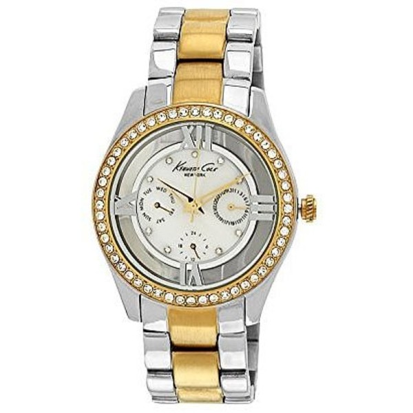 Reloj analógico mujer  - plateado/dorado