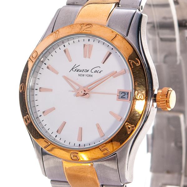 Reloj analógico acero mujer - plateado/dorado