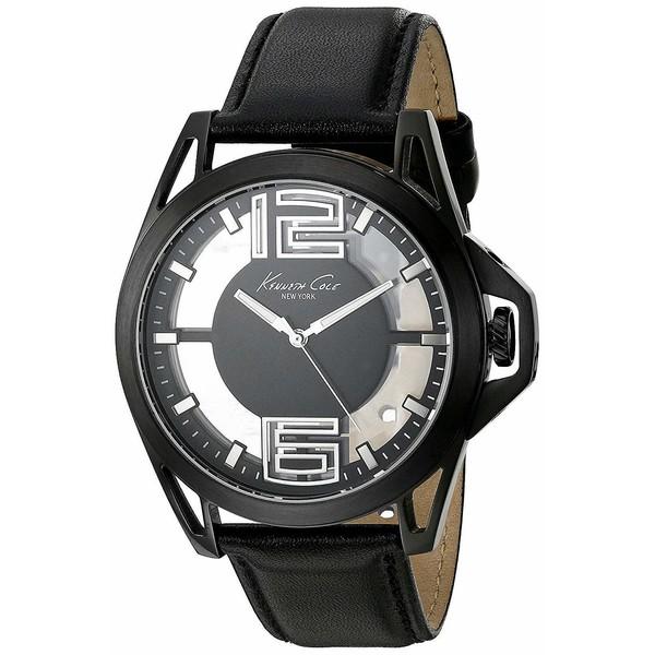 Reloj analogico piel hombre - negro