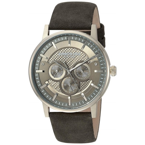 Reloj analogico piel hombre - gris