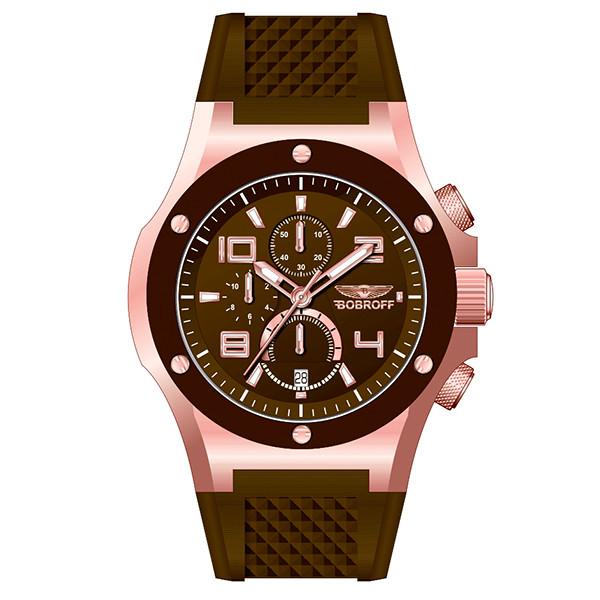 Reloj analógico caucho mujer - marrón
