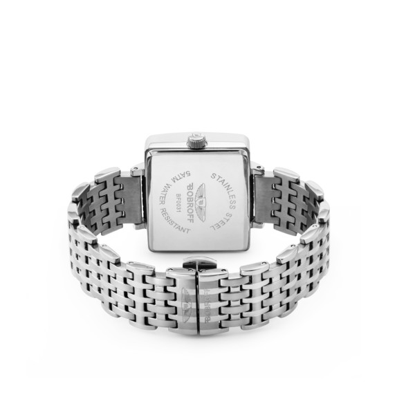 Reloj analógico acero mujer - plateado