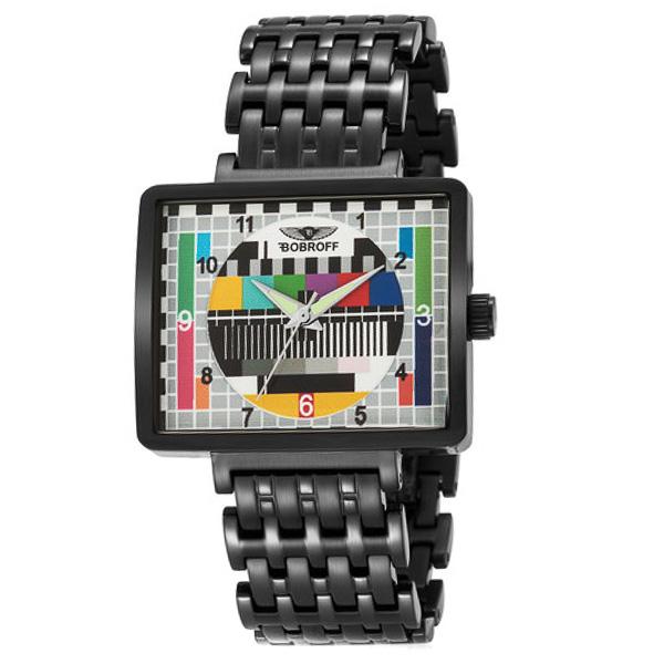 Reloj analógico acero mujer - negro