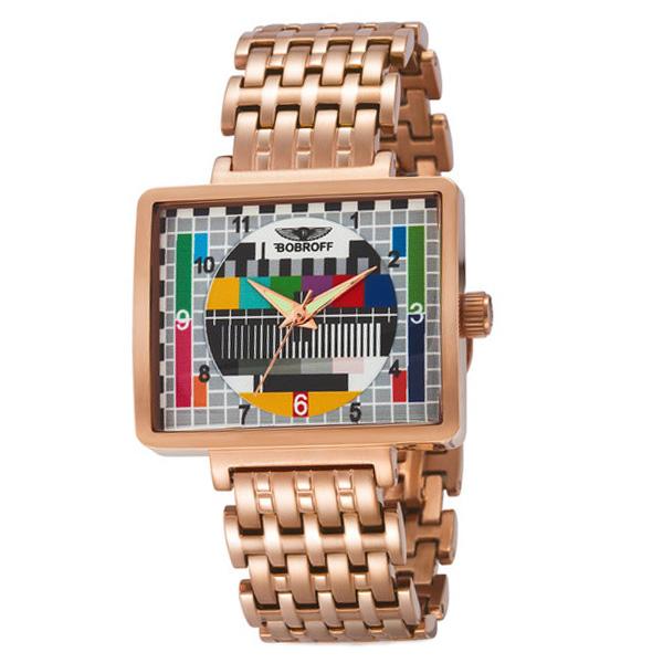 Reloj analógico acero mujer - bronce