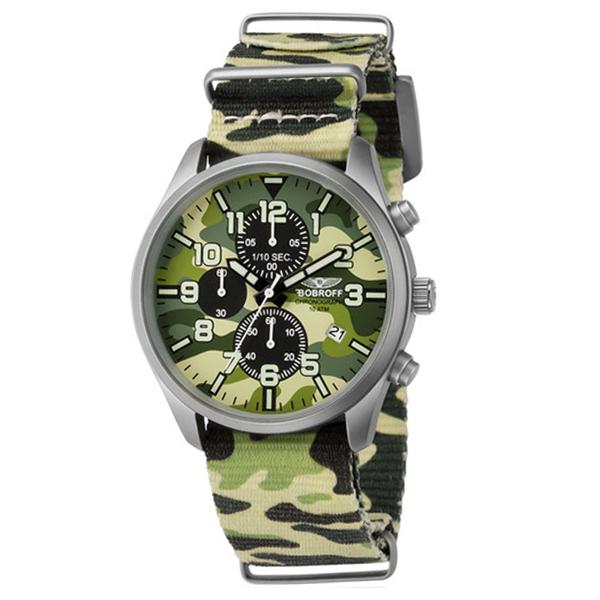 Reloj analógico nylon hombre - camuflaje