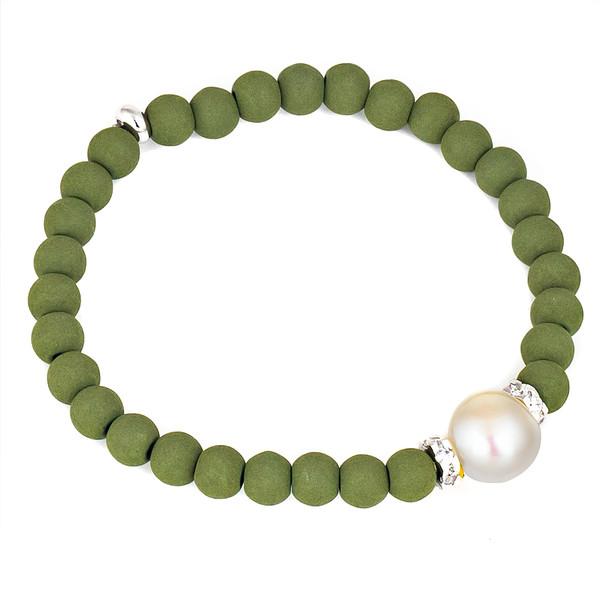 Pulsera elástica mujer - verde