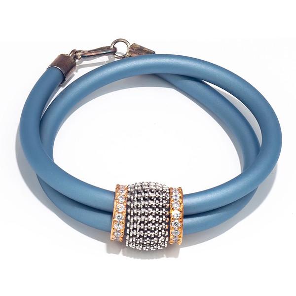 Pulsera elástica mujer - azul