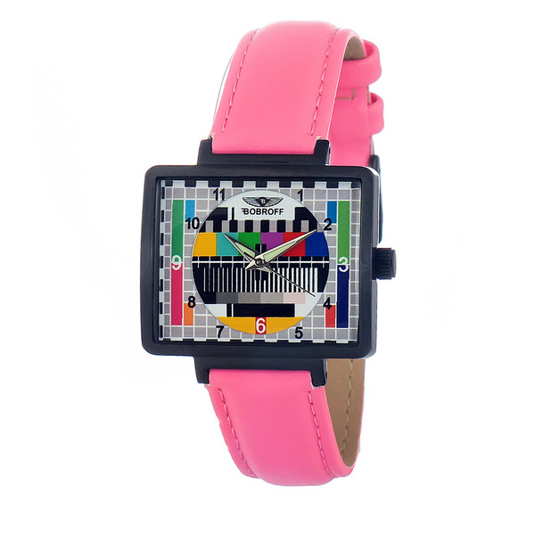 Reloj analógico piel mujer - rosa