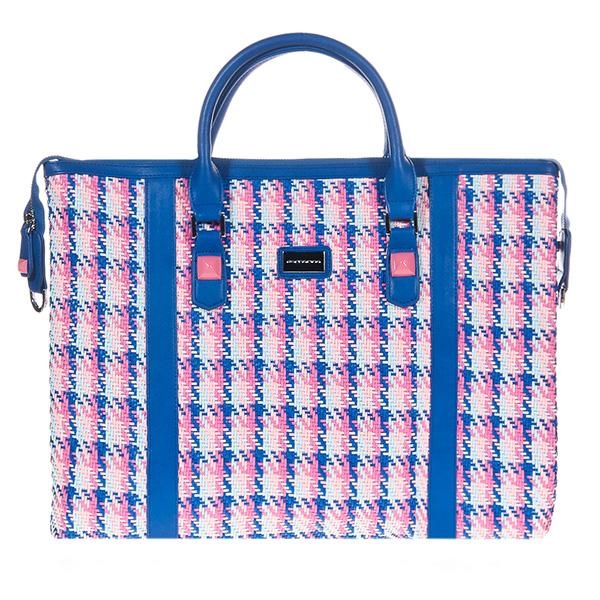 45x33x4cm Bolso Tote Tresj - azul/rosa