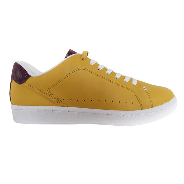 Sneaker piel hombre - mostaza