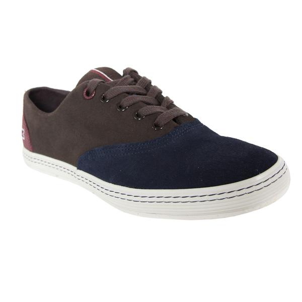 Sneaker piel hombre - gris oscuro combinado