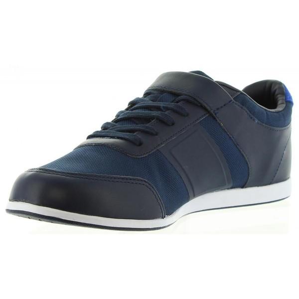 Sneaker piel/textil hombre - marino