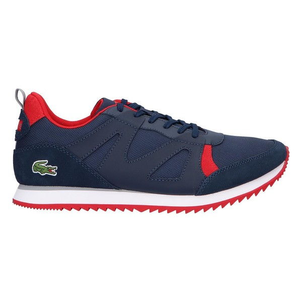 Sneaker piel/textil hombre - rojo
