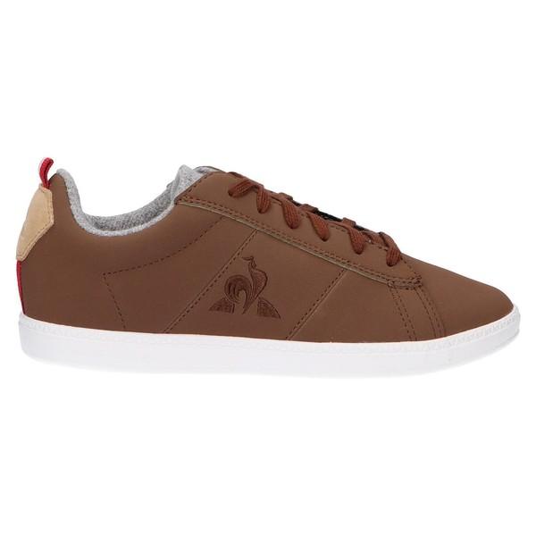 Sneaker piel mujer/infantil - marrón