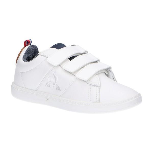 Sneaker piel infantil - blanco