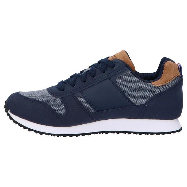 Sneaker piel mujer/infantil - azul